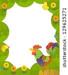 the happy easter frame  ... | Shutterstock . vector #129625271