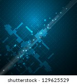 abstract blue space circuit... | Shutterstock .eps vector #129625529