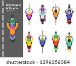bike bicycles top. overhead... | Shutterstock .eps vector #1296256384