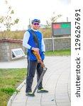 shooting sports. team workouts  ... | Shutterstock . vector #1296267691