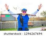 shooting sports. team workouts  ... | Shutterstock . vector #1296267694