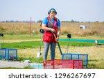 shooting sports. team workouts  ... | Shutterstock . vector #1296267697
