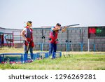 shooting sports. team workouts  ... | Shutterstock . vector #1296269281