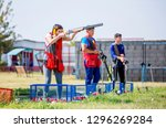 shooting sports. team workouts  ... | Shutterstock . vector #1296269284