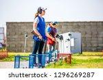 shooting sports. team workouts  ... | Shutterstock . vector #1296269287