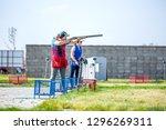 shooting sports. team workouts  ... | Shutterstock . vector #1296269311