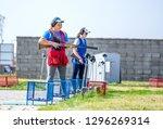 shooting sports. team workouts  ... | Shutterstock . vector #1296269314