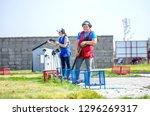 shooting sports. team workouts  ... | Shutterstock . vector #1296269317