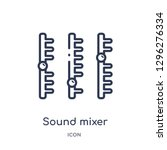 linear sound mixer icon from... | Shutterstock .eps vector #1296276334