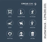 9 icons set such as swings ... | Shutterstock .eps vector #1296281101