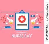 international nurses day ... | Shutterstock .eps vector #1296283627