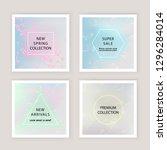holographic gradient mesh... | Shutterstock .eps vector #1296284014