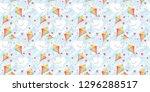 valentines day seamless pattern ...   Shutterstock . vector #1296288517