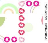 valentine's day  heart donut ... | Shutterstock .eps vector #1296293857
