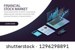 isometric financial stock... | Shutterstock .eps vector #1296298891