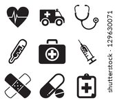 ambulance icons | Shutterstock .eps vector #129630071