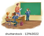 children at school  sit at a... | Shutterstock . vector #12963022