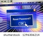 reset password popup to redo... | Shutterstock . vector #1296306214