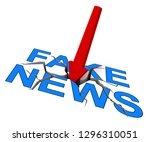 fake news icon word means... | Shutterstock . vector #1296310051