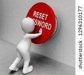 reset password button to redo... | Shutterstock . vector #1296310177
