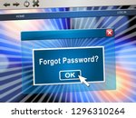 forgot password phone shows... | Shutterstock . vector #1296310264