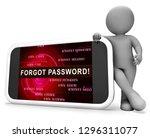 forgot password phone shows... | Shutterstock . vector #1296311077