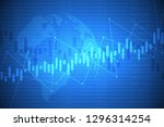 business chart with uptrend... | Shutterstock . vector #1296314254