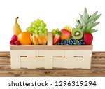 selection of fruits in a basket | Shutterstock . vector #1296319294