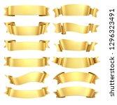 golden ribbons. congratulations ...   Shutterstock .eps vector #1296323491