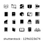 black books icons. study... | Shutterstock .eps vector #1296323674