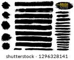 large set different grunge... | Shutterstock .eps vector #1296328141