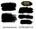 large set different grunge... | Shutterstock .eps vector #1296328714