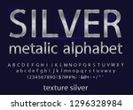set of elegant silver colored... | Shutterstock .eps vector #1296328984