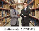 portrait of two businessmen in... | Shutterstock . vector #129633359