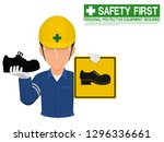 industrial worker is presenting ... | Shutterstock .eps vector #1296336661