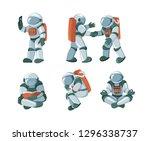 vector set of cartoon flat... | Shutterstock .eps vector #1296338737