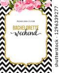 bachelorette party calligraphy...   Shutterstock .eps vector #1296339277