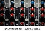 detail of a music mixer desk... | Shutterstock . vector #129634061