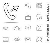 outgoing call icon. media ...