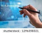 e learning education internet...   Shutterstock . vector #1296358321