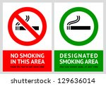 No Smoking And Smoking Area...