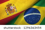 spain and brazil two flags... | Shutterstock . vector #1296363454