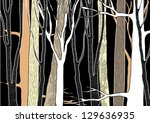 hand drawn deep forest   vector ...