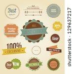 vector illustration. collection ... | Shutterstock .eps vector #129637217