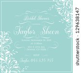 bridal shower | Shutterstock .eps vector #129638147