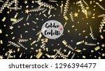 modern realistic gold tinsel...   Shutterstock .eps vector #1296394477
