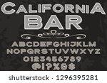 font alphabet script typeface... | Shutterstock .eps vector #1296395281