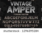 vintage font typeface vector... | Shutterstock .eps vector #1296395284