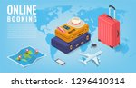 travel equipment in isometric...   Shutterstock .eps vector #1296410314