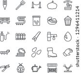 thin line icon set   fence... | Shutterstock .eps vector #1296411214